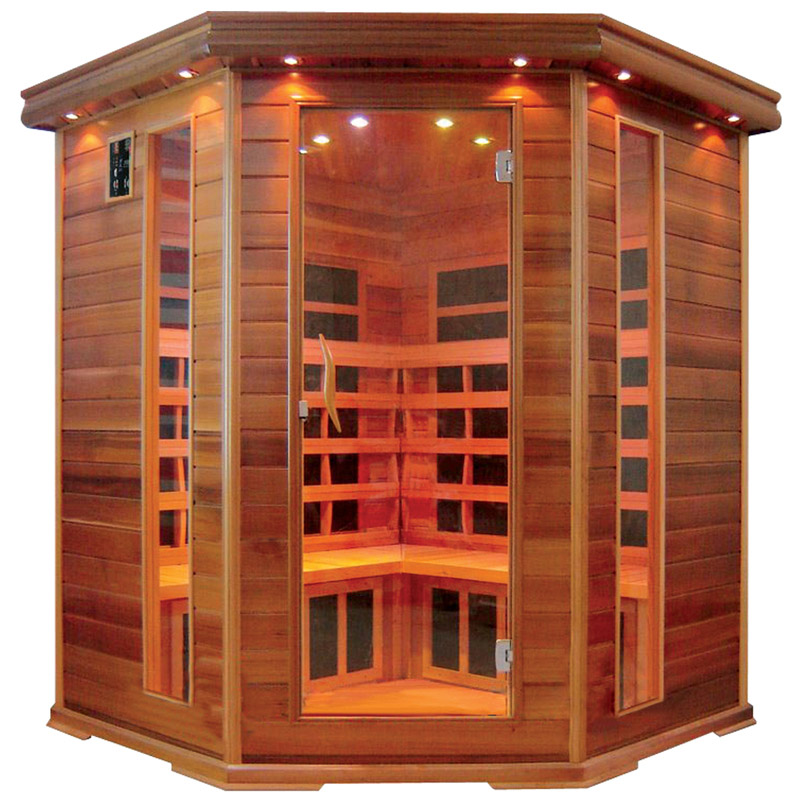 big corner far infrared sauna room